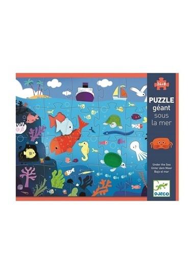 Djeco Djeco Dev Puzzle 24 Parça/ Deniz Altı Pembe